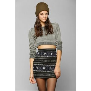 Staring at Stars Intarsia Knit Skirt